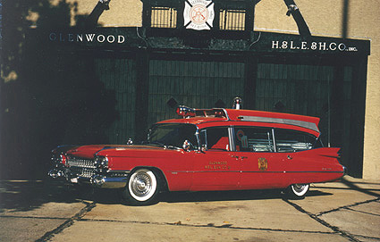 1959 Cadillac Ambulance operated by The Glenwood Fire Company.